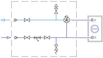 Схема подключения четырехтрубного фанкойла